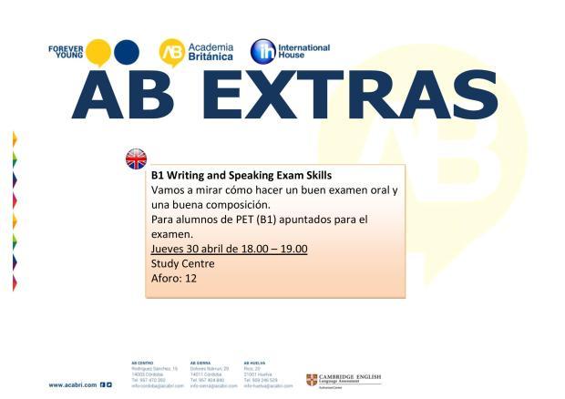CARTEL AB EXTRAS 27-30 ABRIL